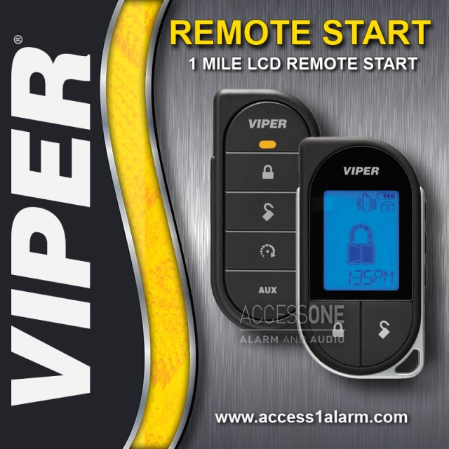 2014+ Dodge Durango Viper 1-Mile LCD Remote Start System
