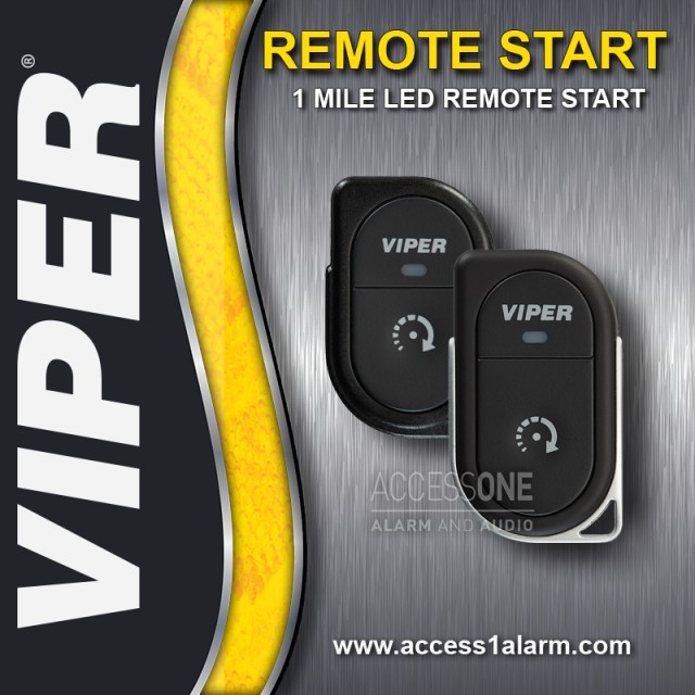 Chrysler Town & Country Viper 1-Mile LED 1-Button Remote Start System
